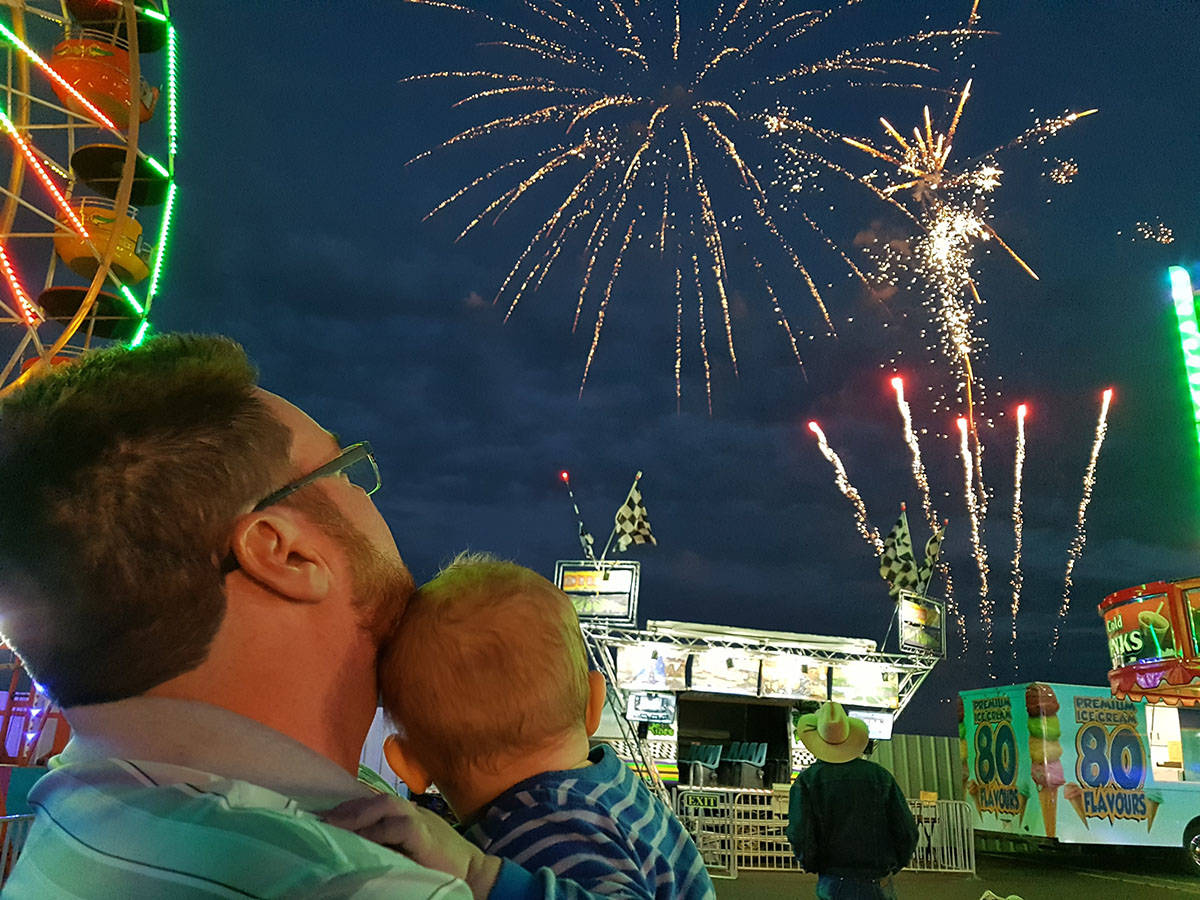Fireworks at the Fair by Jessica Nelson, second place with 1,186 votes.