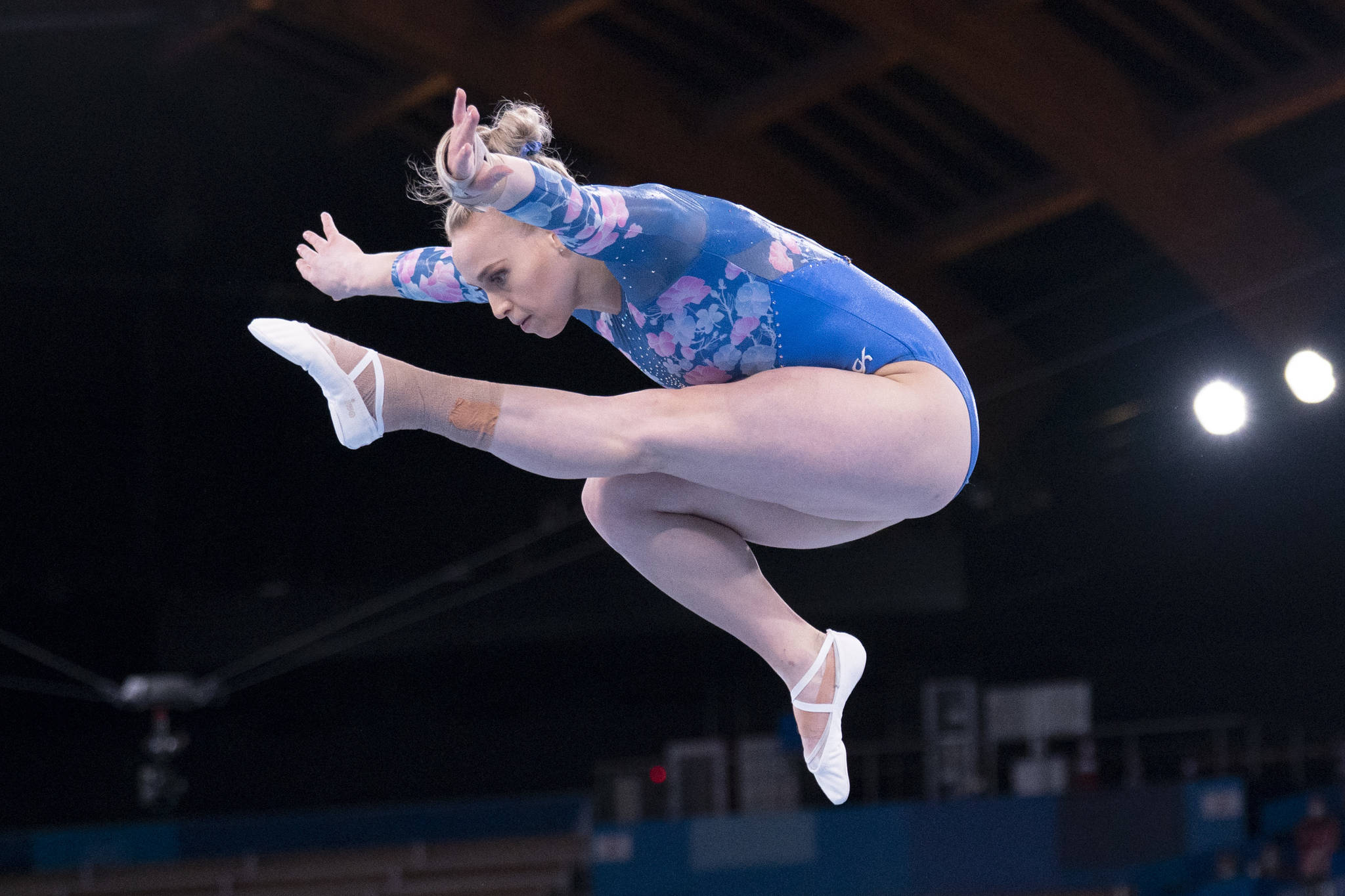 Canadian gymnast Ellie Black, from Halifax, competes in the balance beam final at the 2020 Tokyo Olympics, Tuesday, August 3, 2021 in Tokyo, Japan. THE CANADIAN PRESS/Adrian Wyld